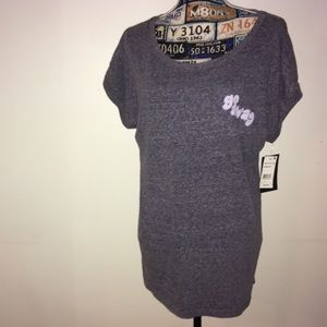 "2KUHL Heather gray tshirt ""go away"" size L long"